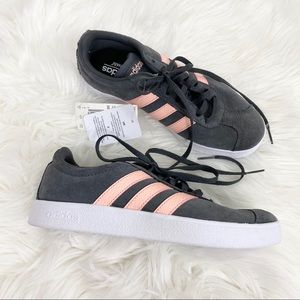 Adidas Gray Pink VL Court 2.0 Skater Shoes